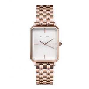 Reloj rectangular acero rosa - OCWSRG-O42