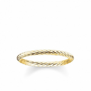 Anillo fino enroscado plata oro -