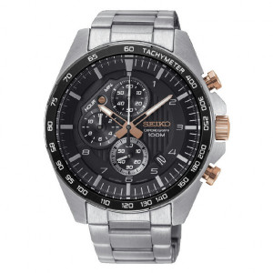 Reloj Seiko Neo Sports cuarzo crono negro - SSB323P1