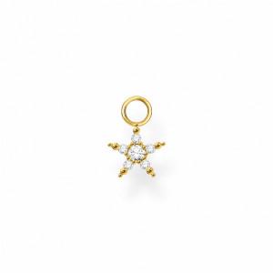 Colgante para pendiente estrella plata oro -