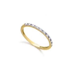Anillo diamantes oro bicolor -