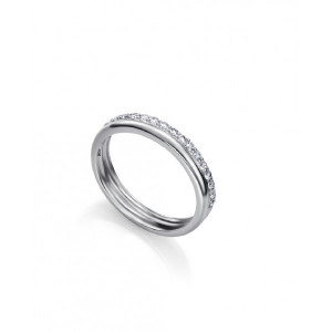 Anillo fino doble circonitas plata - 7130A012-38