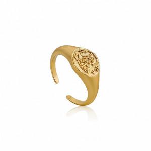 Sello plata oro ajustable - R009-03G