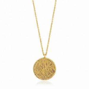 Colgante medalla plata oro - N009-04G
