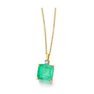 Colgante piedra verde oro -