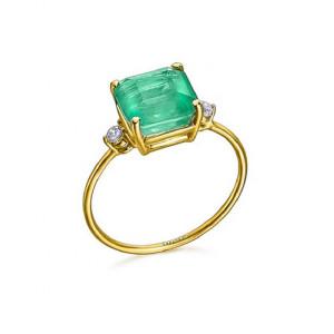 Anillo piedra verde oro -