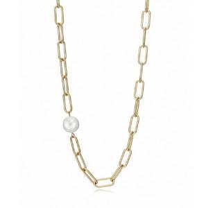 Collar eslabones acero oro perla - 1317C01012