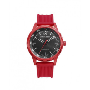 Reloj hombre correa caucho rojo -