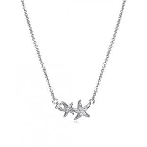 Collar estrellas de mar circonitas plata - 61074C000-38