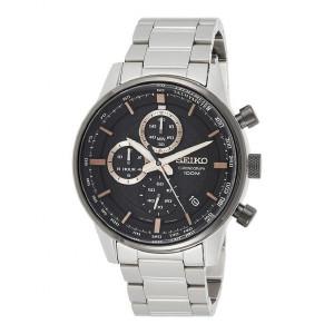 Reloj Seiko Neo Sports cuarzo crono bisel negro - SSB331P1