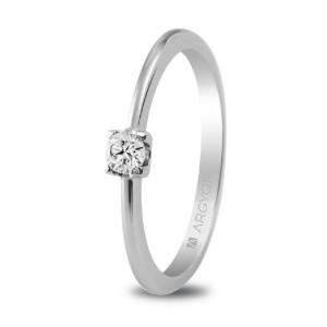 Anillo de compromiso con diamante 0,10 -