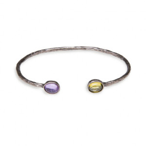 Pulsera brazalete piedras bronce -