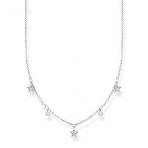 Cadena estrellas circonitas plata -