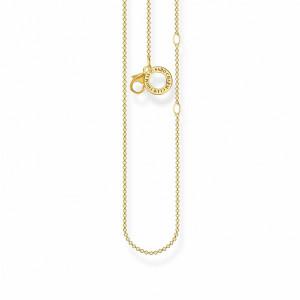Cadena fina eslabones redondos plata oro -
