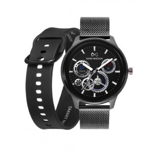 Pack reloj smart aluminio gris brazalete correa -