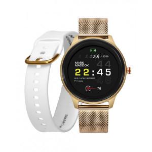 Pack reloj smart aluminio dorado brazalete correa -
