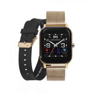 Pack reloj smart dorado correa -