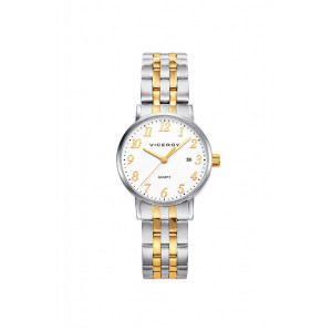 Reloj acero bicolor dorado mujer - 42224-94