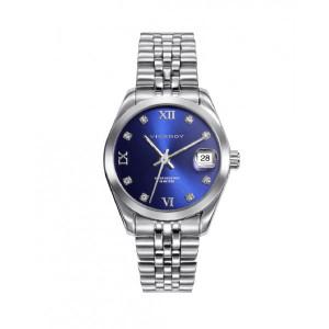 Reloj acero esfera azul mujer - 42414-33