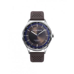 Reloj acero correa caucho marrón - 471313-17