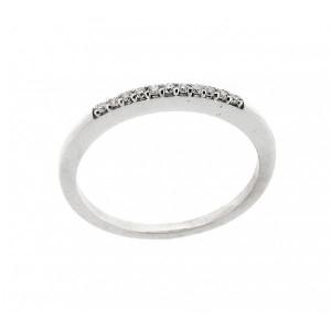 Media alianza oro blanco diamantes 0,07ct. -