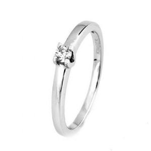 Sortija solitario oro blanco diamante -