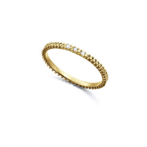 Anillo fino plata oro diamantes -