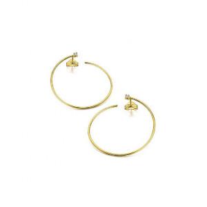 Pendientes círculo grande diamantes oro -