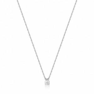 Colgante cadena candado plata - N032-02H