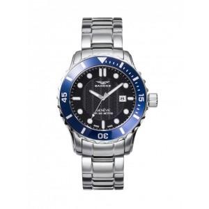 Reloj para hombre Sandoz acero bisel azul - 81393-57