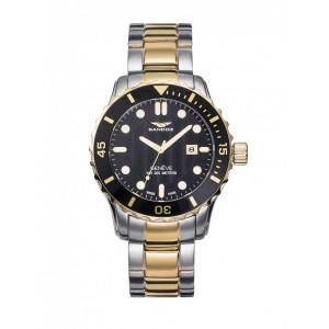 Reloj para hombre Sandoz dorado esfera negra - 81393-97